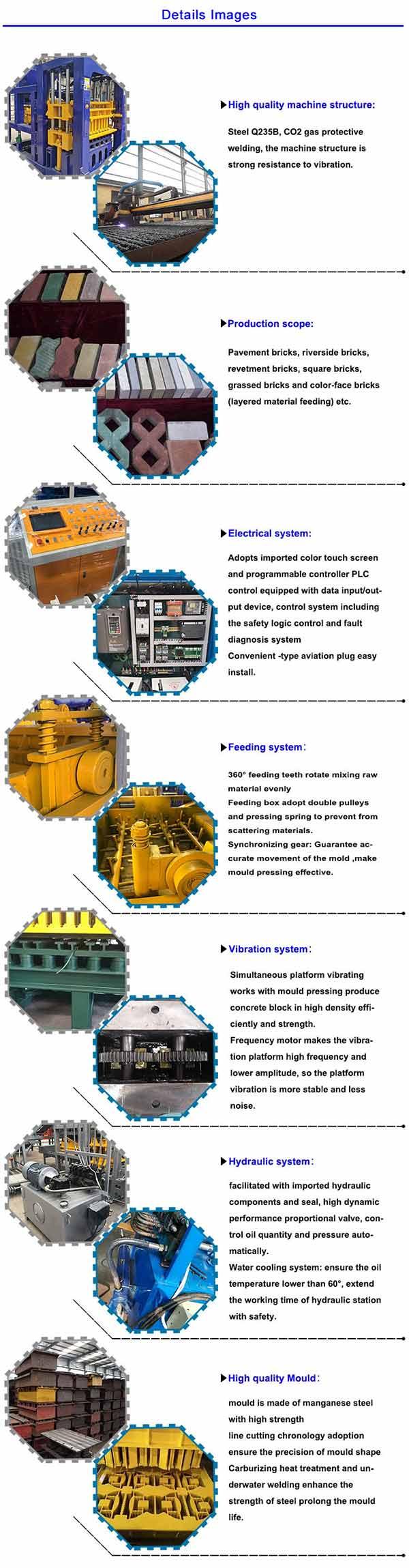 Automatic Bricks Machines QT 8-15 Pavement Block Making Machine For Sale Concrete Mold