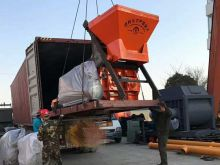 JS1000 Twin Shaft Concrete Mixer Delivery to Russia